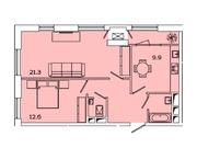 """Продается 2-к. квартира, 59,57 кв.м. в ЖК """"sreda"""""""