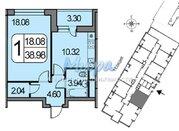 ЖК Белые Росы. Продается однокомнатная кв-ра 2-й корпус, 1 секция, 16