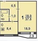 Москва, 1-но комнатная квартира, ул. Кантемировская д.12 к2, 5590000 руб.