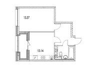 """Продается 1-к. квартира, 41,49 кв.м. в ЖК """"зиларт"""""""