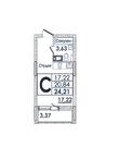 1-комнатная квартира Студия за 1 900 000 рублей в М.О, г. Ивантеевка