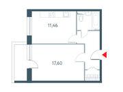 """Продается 1-к. квартира, 43.5 кв.м. ЖК """"Прайм Тайм"""""""