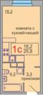 Мытищи, 1-но комнатная квартира, заречная д.5, 1470600 руб.