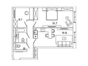 """Продается 2-к. квартира, 62,38 кв.м. в ЖК """"sreda"""""""
