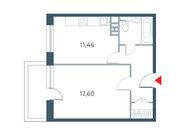 """Продается 1-к. квартира, 43.52 кв.м. ЖК """"Прайм Тайм"""""""
