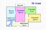 Домодедово, 3-х комнатная квартира, Курыжова д.7, 4980000 руб.