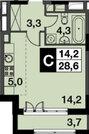 Развилка, 1-но комнатная квартира, Проектируемый проезд 5544 д.1А, 3030170 руб.