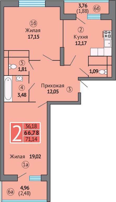 Квартиры в одинцово планировка
