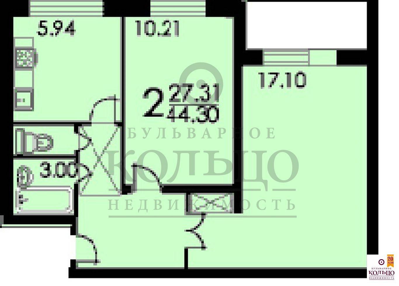 Москва, 2-х комнатная квартира, ул. домодедовская д.33, 640.