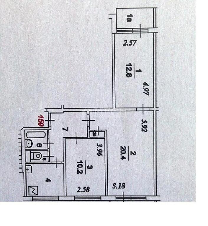 Москва, 2-х комнатная квартира, ул. исаковского д.20к2, 890.