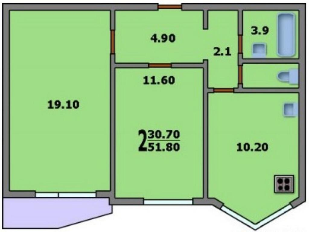Продается двухкомнатная квартира москва, метро саларьево, ул.