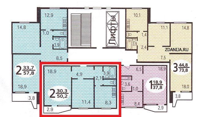 Москва, 2-х комнатная квартира, осенний б-р. д.16 к2, 13000.