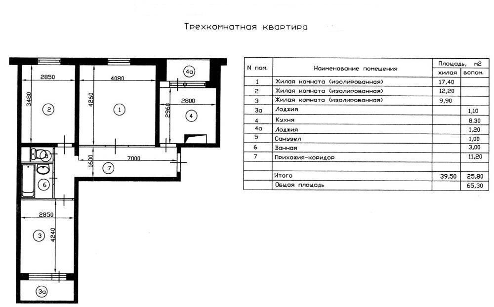 Москва, 3-х комнатная квартира, ул. луганская д.7 к1, 10500.