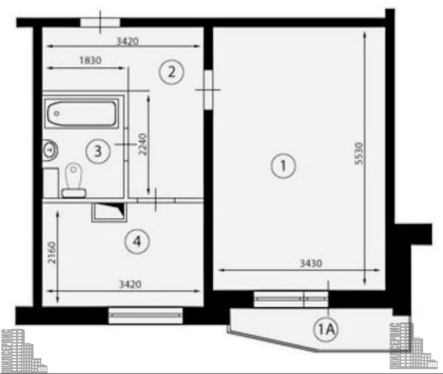 Москва, 1-но комнатная квартира, ул. дубравная д.40, 70000.
