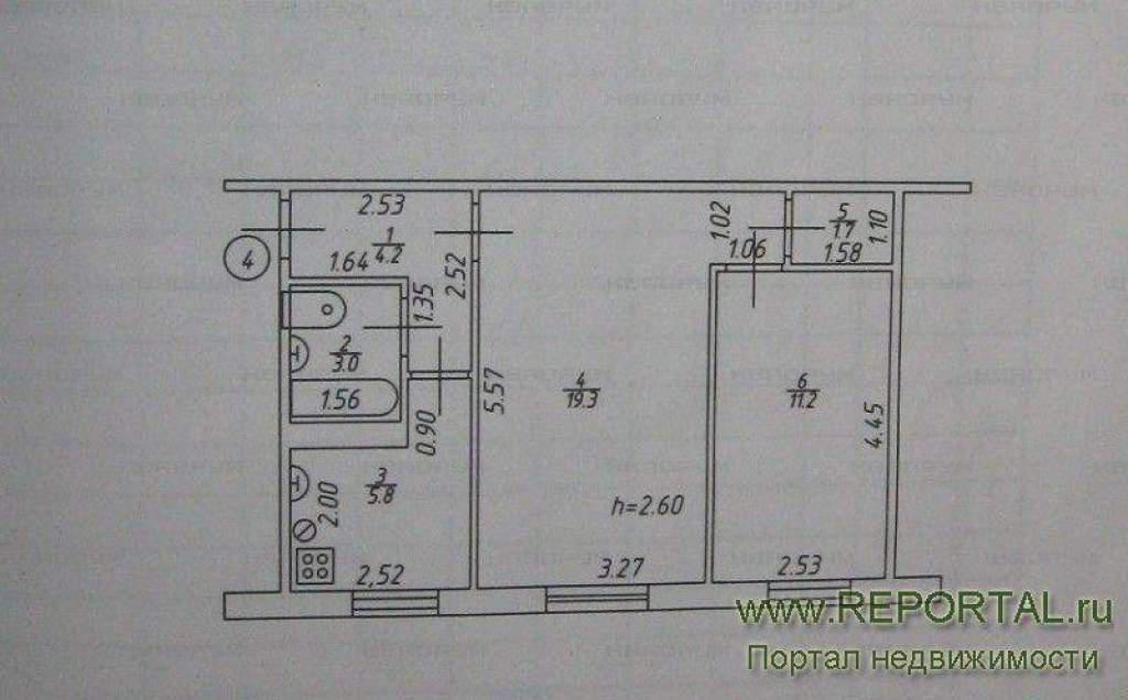 Продажа 2-к квартиры гагарина, 45.2 м? в казани.