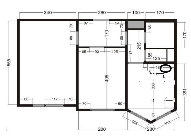 Дрожжино, 2-х комнатная квартира, новое шоссе д.12 к3, 5350.