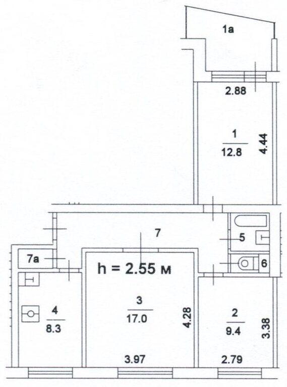 1-515 размеры балкона.