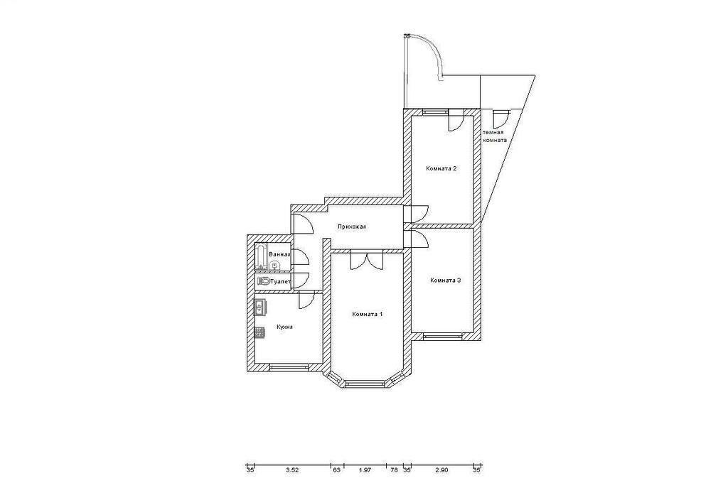 Москва, 3-х комнатная квартира, ул. адмирала лазарева д.74, .