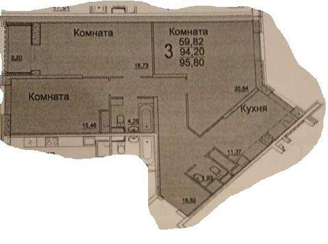 3-комнатная квартира, 94 кв.м., в ЖК «Новое Измайлово»