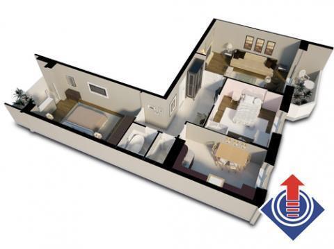 3-комнатная квартира, 80 кв.м., в ЖК «Школьный»