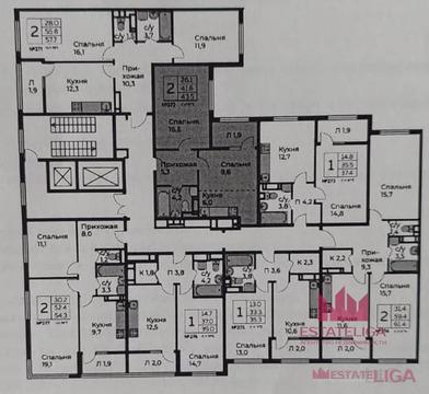 "1-комнатная квартира, 44 кв.м., в ЖК ""Южное Бунино"""
