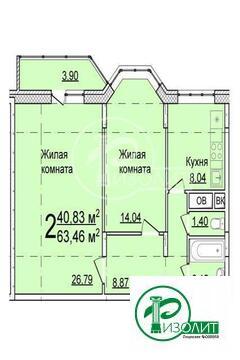Квартира- новостройка в монолитно-кирпичным доме, без отделки, свободн