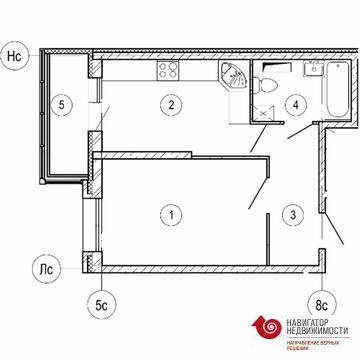 Красногорск, 1-но комнатная квартира, б-р Космонавтов д.д. 11, 3966073 руб.