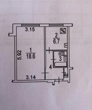 Продается 1 к.квартира 32,5 м2