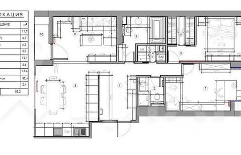 2-комн. квартира, 89 м