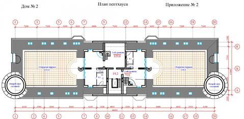 Продается двухуровневый пентхаус 293 кв.м. г. Химки ЖК Берег