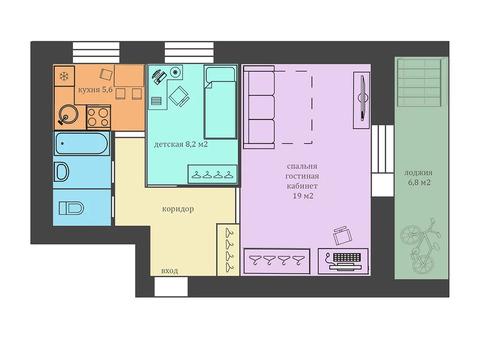 Двухкомнатная квартира в Мытищах