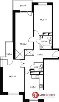 Чертановская 3 комнатная квартира 91.6 кв.м