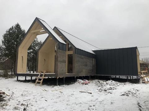 Дом в стиле барнхаус, 120 кв.м, д. Чепелево, г. Чехов