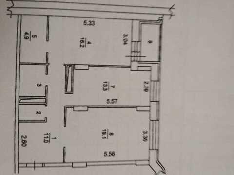 Химки, 2-х комнатная квартира, ул. Ленина д.33, 6780000 руб.