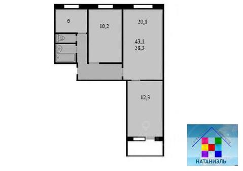 3-комн. квартира, 58,3 м Химки