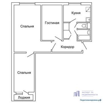 Продам трехкомнатную (3-комн.) квартиру, Подольская ул, 23, Москва г