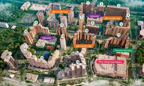 Реутов, 2-х комнатная квартира, микрорайон Новокосино-2 д.к16, 5900000 руб.