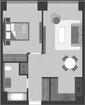 2-комнатная квартира, 48 кв.м., в ЖК Prime Park