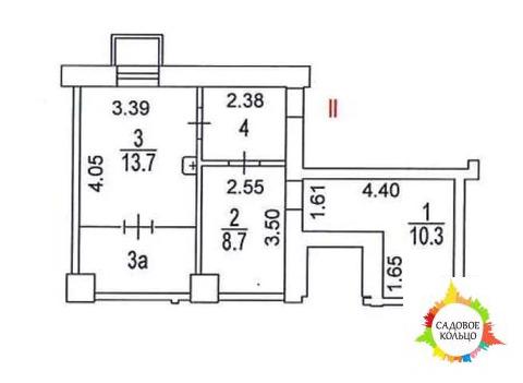 Помещение свободного назначения общей площадью 44 кв
