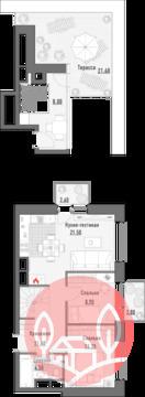 2-комнатная квартира, 71 кв.м., в Квартал JAZZ