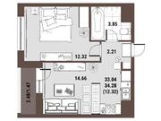 Рузино, 1-но комнатная квартира, Кутузовский д.2, 4000000 руб.