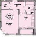 Раменское, 1-но комнатная квартира, Северное ш. д.20, к., 3000000 руб.