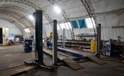Площадь ангара 300 м2, отопление, водопровод, оборудован сигнализацией, 89000 руб.